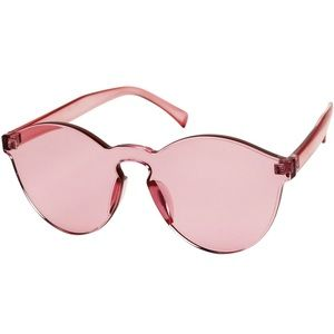 Rose Tinted Rimless Sunglasses
